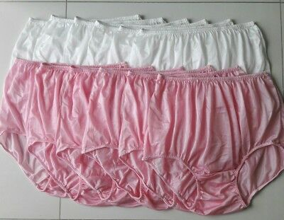 12x Silk Nylon Panties Size XXL Granny Sleep Vintage Style Knicker Women Briefs