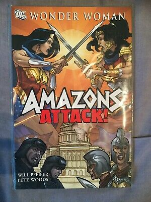 Wonder Woman: Amazons Attack, Pete Woods,Will Pfeifer, Good Condition Book, ISBN