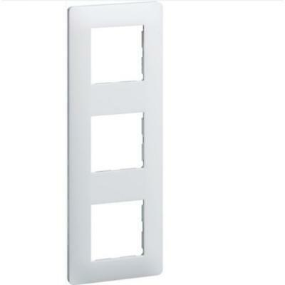 ot de 2 PLAQUE ESSENSYA 3 POSTES REVERSIBLE ENTRAXE 71MM BLANC - WE403 - HAGER