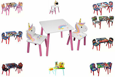 Kids Table & Chairs Set - Wooden Kids Activity Nursery Playroom Furniture