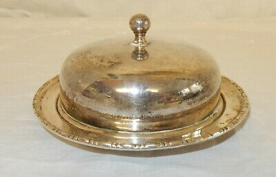 Vintage Small Silver Plated Muffin Butter Dish