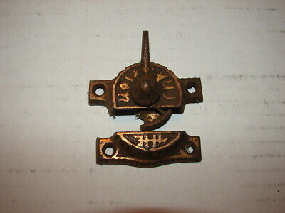 Antique Victorian Eastlake Window Sash Lock Latch Locks Fancy Cast Iron # 1