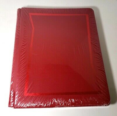 Creative Memories Red Scrapbook Album Tribute Old Style 8.5 x 11 Strap Hinge