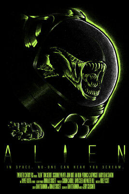ALIEN IN SPACE LAMINATED ART POSTER 24x36in (61x91cm)