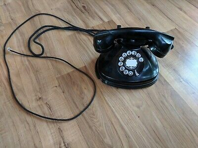 Antique Vintage Stomberg-Carlson 1212 AB Rotary Dial Desk Telephone W/Cloth Cord