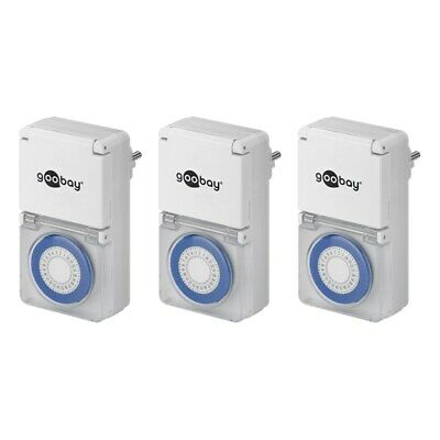 3x Analog Timer Exterior Area Outdoor Socket Timer Clock Time Switch