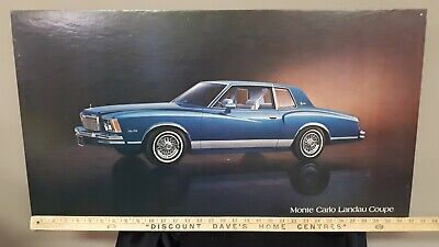 1979 MONTE CARLO Coupe (Blue) - GM Dealer Issue Board Poster/Sign - US