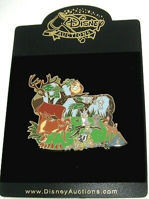 RARE JUMBO LE 100 Disney Auctions Pin ✿ Bambi Cast Forest Faline Opossum Flower