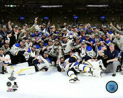 ST. LOUIS BLUES 2019 STANLEY CUP CHAMPIONS On Ice Celebration 8x10 PHOTO