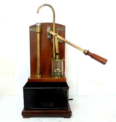 Antique 1900 Water Pump Rare Ducretet Paris Hand Visible Demo Model Hydraulic