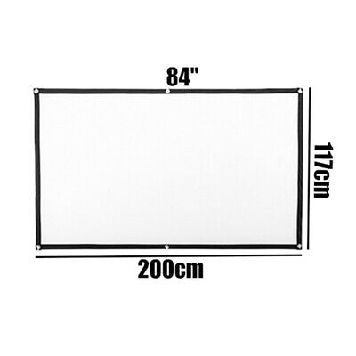 60-120 Projector Screen 16:9 Outdoor 3D Movie Cinema Theater Projection New