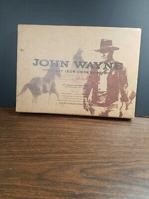 "John wayne cast iron cookware 10"" grill round  new in box"