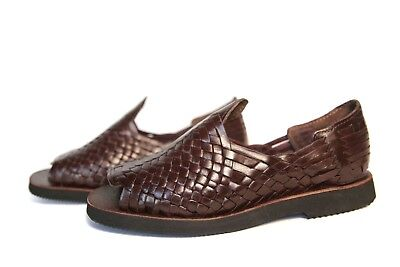Authentic Mens Huarache Sandals. Mexican Sandals. Open Toe Brown #68