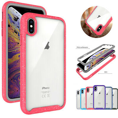 Shockproof Bumper Hard Armor PC Clear Case Cover For iPhone Xs Max 8 Plus 7 6s/6