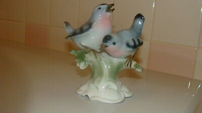 Vintage GEROLD Porcelain Bavaria 2 Birds Figurine Germany