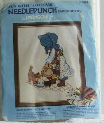 Paragon Holly Hobbie with Kittens Crewel Stitchery Kit 5104 New