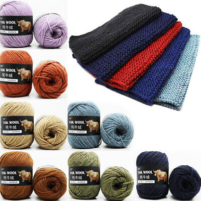 100g / Balls Super Soft Yak Wool Hand Knitting Yarn Wool Baby Crochet Yarn New