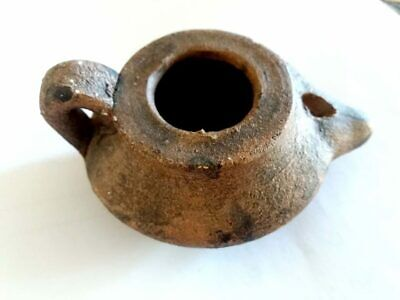 Antique Oil Lamp Ancient Roman Clay Pottery Replica Terracotta From HOLY LAND