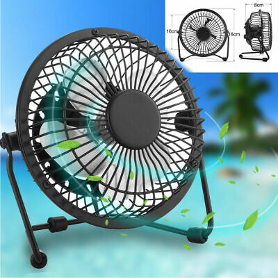 USB Ventilateur Mini Bureau Table Portable Silencieux Ordinateur PC Inclinable