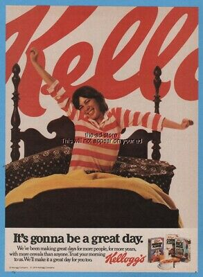 1979 Kellogg's It's gonna be a great day Cereal Frosted Flakes Rice Crispies Ad