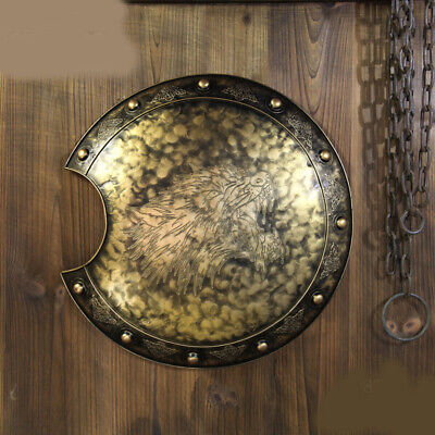 D19 Europe Retro Medieval Shield Antique Knight Armour Wall Home Decor Full Size