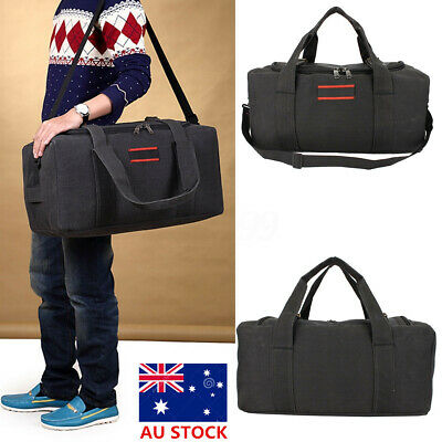 Men Large Military Canvas Gym Duffle Shoulder Bag Outdoor Travel Luggage Handbag