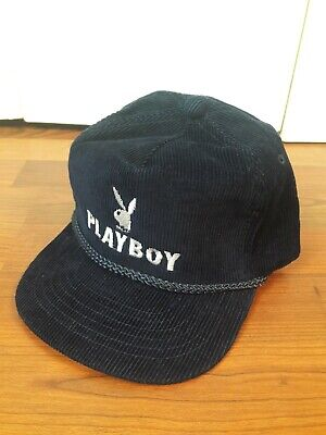 Playboy corduro 80s 90s Vintage Snapback Hat Ball Cap Trucker Rope Hat  rare