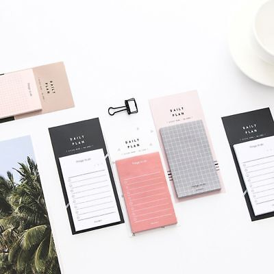 Useful Daily Plan To Do List Weekly Monthly Memo Pad Sticky Notes School Office