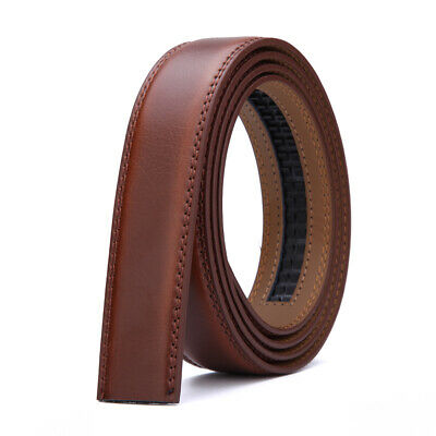 Men's Genuine Leather Automatic Strap Belt Without Buckle Waist Strap Wide 3.0cm