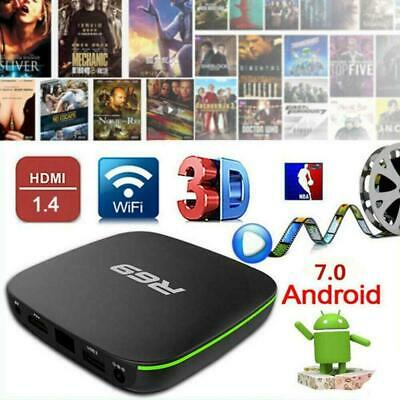 R69 Android 7.1 Smart TV Box 1+8G Quad Core HD 2.4GHz Hot WiFi Media Player D6H7