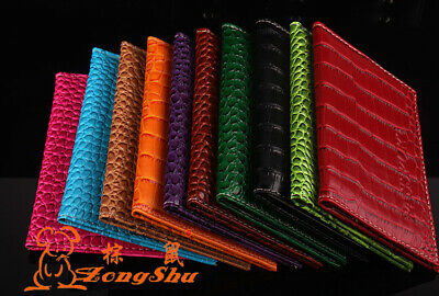 Luxury Crocodile Skin Effect Coloured PU Leather Passport Cover Travel ID Wallet