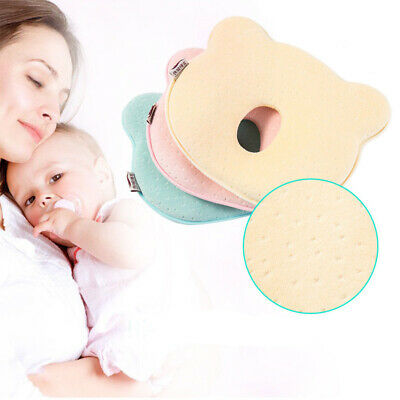 Kid Baby Cot Soft Pillow Prevent Flat Head Memory Foam Cushion Sleeping Support