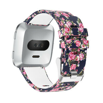 Printed Silicone Replacement Band Strap Wrist Watchband For Fitbit Versa / Lite