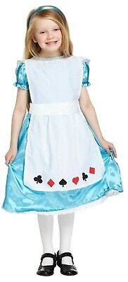 Girls Alice Fancy Dress Up Costume Wonderland Outfit Ages 4-12 yrs Book Day New