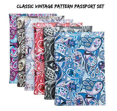 Luxury Flowers Patterned Floral PU Leather Passport Cover Travel ID Wallet