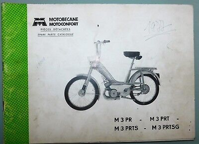 Ancien Catalogue Pieces Detachees 1976 Cady Motoconfort Motobecane M3Pr/Prt/Prts