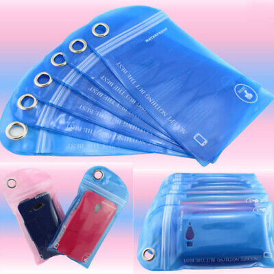 5Pcs Waterproof Bag Case Cover Swimming Beach Pouch For Mobile Cell Phone Bling