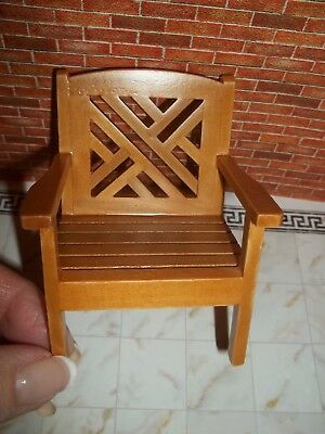 Beautiful Chair For The Porch Or Gazebo -  - Wood -  Doll House Miniature