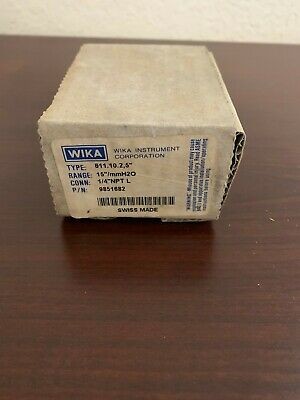 "Wika Instrument Corporation 611.10 2,5"" P/N 9851682"