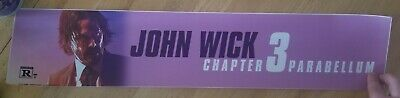 "John Wick: Chapter 3 - Parabellum (2019) Large Movie Theater Mylar 5"" X 25"""