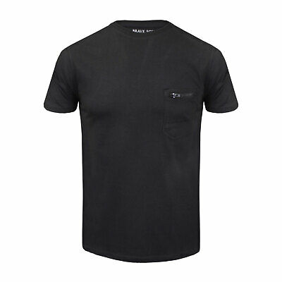 Brave Soul Summer T-shirt for Men with Pocket Zip Crew Neck Summer Tee in Cotton