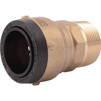 "Sharkbite UXL113532M  1 1/4"" x 1 1/4"" MNPT Brass Push Male Adapter"