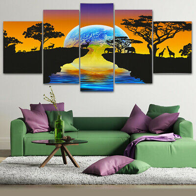 5Pcs Set Star Modern Canvas Print Paintings Unframed Wall Art Pictures Home Deco