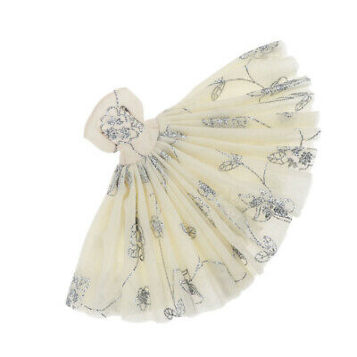 Handmade Doll Party Tube Dress Accessory for 1/4 Princess Dolls Outfit Beige