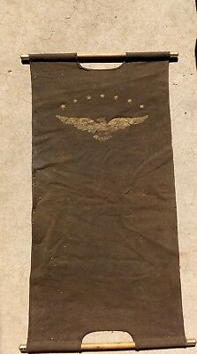 Antique Art Deco Log Bag Firewood Primitive Display Eagle Advertising 7 Star A+