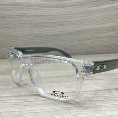 8ea95b831548 Oakley Holbrook Rx Eyeglasses Polished Clear OX8156-0354 Authentic 54mm