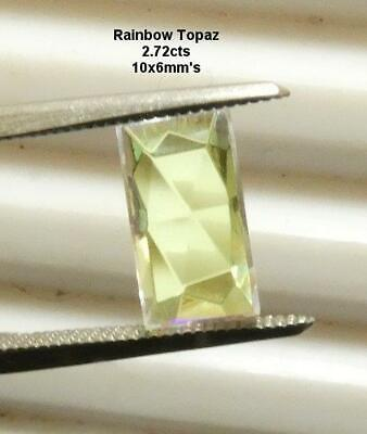 RAINBOW TOPAZ, 2.72cts, NICE SHIMMERING COLORS, ** NATURAL **, FREE SHIPPING