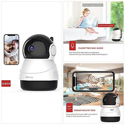 VICTURE 1080P FHD WiFi IP Camera Indoor Wireless Security