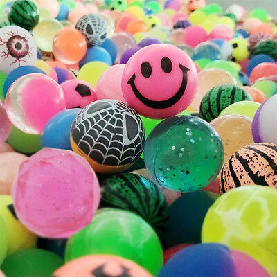 10x Colorful 27mm Bouncy Jet Balls Kids Toy For Pinata Loot Party Bag FillersRDR