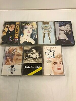 Collection Of Madonna Cassette Tapes Like a prayer.like a virgin,true blue x7